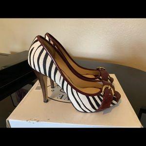 Steve Madden zebra print pumps heels